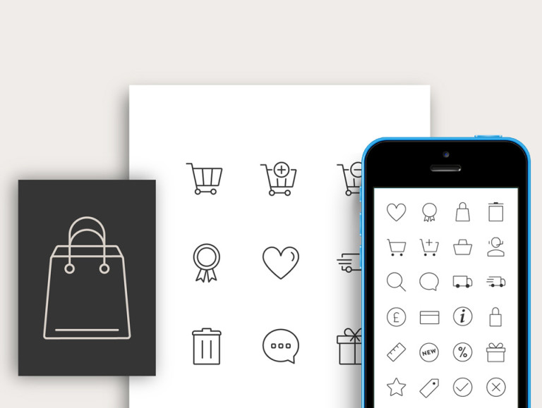 Responsive E-commerce Icon Set