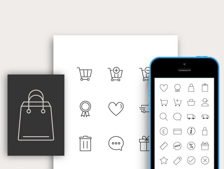 Responsive E-commerce Icon Set